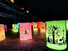 Faroles ecológicos en colores surtidos para alumbrar tu navidad!