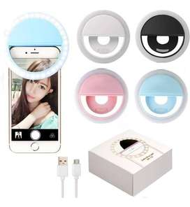 Aro De Luz Led Para Selfie Ring Light Led Recargable Celular