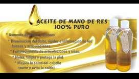 ACEITE DE MANO DE RES 100% PURO