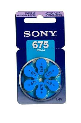 Pilas Sony 675 ORIGINAL Para Audifonos X 6 Unidades