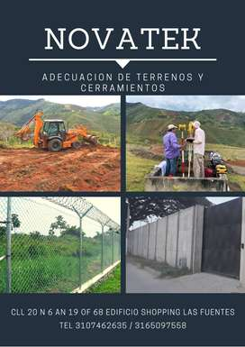 adecuación de terrenos y cerramientos