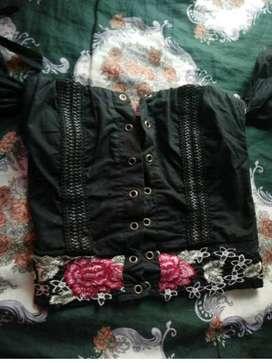 Camisa tipo corset