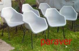 silloncitos sillas tulip saarinen originales 1960 sin uso diseño retro vintage miller eames