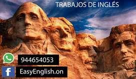 TRABAJOS DE INGLÉS VIRTUALES PARA TODOS / TRADUCCIONES
