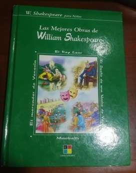 Vendo libro historias de William shakespeare.