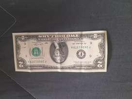 Vendo billeta de $2 dólares