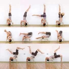 Yoga Feet up, parada de cabeza equipo