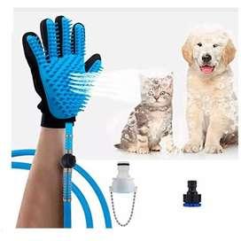 guante manguera spa para mascotas