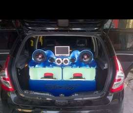 Vendo sonido para carro completo, una planta audio pipe de 1500W, una planta boss de 1000, dos bajos DB,