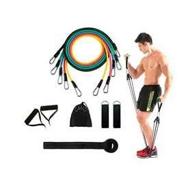 Kit de 5 Bandas elásticas de resistencia para hacer ejercicio 100 LB