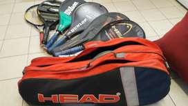 Vendo Bolso Y 6 Raquetas de Tenis