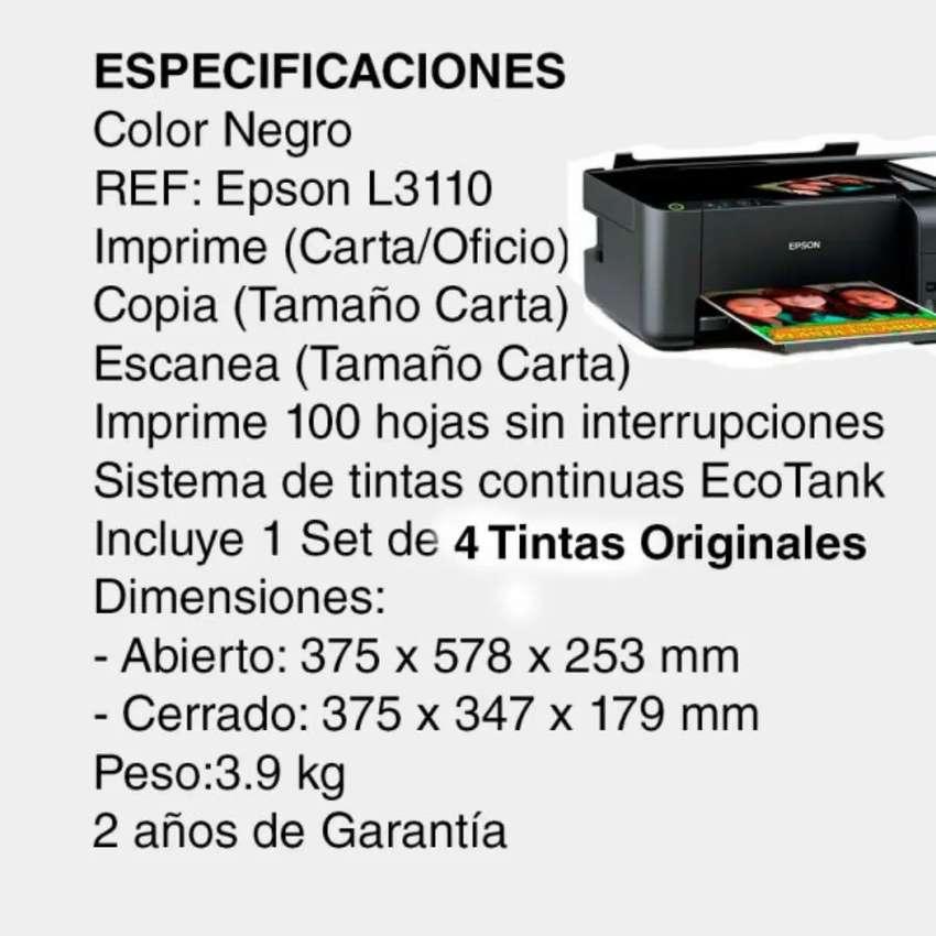 Se vende impresora en papel comestible como nueva EPSON L3110 + papel comestible + tintas