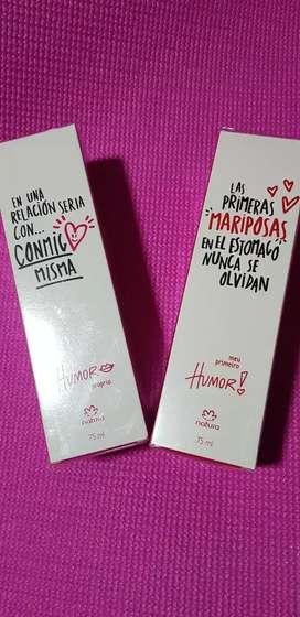 Eau de toilette Humor propio y Meu primeiro Humor Natura, femeninos