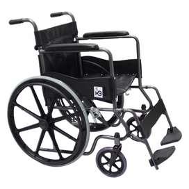 Silla de ruedas estándar económica rin estrella ruedas en poliuretano plegable