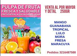 PULPA DE FRUTA POR MAYOR DETAL