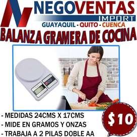 BALANZA GRAMERA DE COCINA EXCLUSIVAMENTE EN DESCUENTO SOLO EN NEGOVENTAS