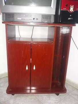 Mesa de tv con vandeja para cd
