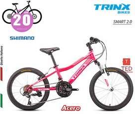 Bicicleta SMART 2 ARO20 ROSA - Shimano