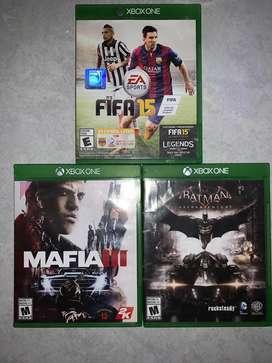 Tres juegos xbox one