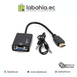 Cable Adaptador Convertidor Hdmi Macho A Vga Hd  Audio