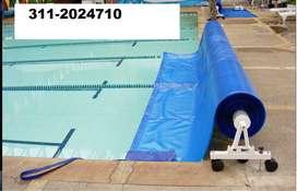 Venta Carrito o riel para mantas termicas piscinas hasta 6.50 mts ancho
