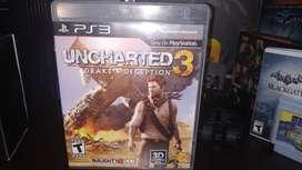 Uncharted 3 ORIGINAL para Playstation 3