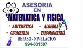 Dicto clases personalizadas de matemática, física y electrónica básica