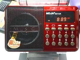 Radio fm usb sd recargable memorias tablero digital 11x7x2.5 cm    portable