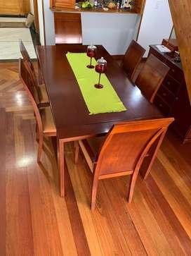 Comedor seis puestos de muebles y accesorios