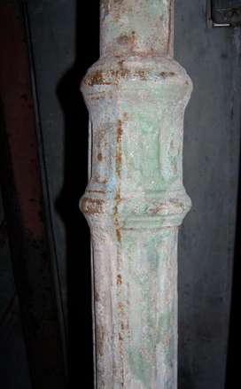 Antigua Columna De Fundición 3.93 Alto
