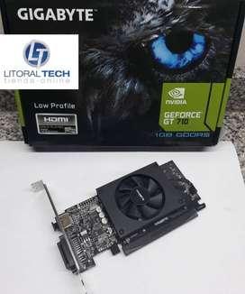 Placa de video GIGABYTE NVIDIA. GEFORCE GT 710 PCI-E, 1 GB DDR5, HDMI.