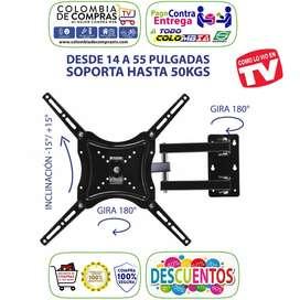 Soporte Base Tv Giratoria 14 A 55 Pulg. Hasta 50kg, Lcd Nuevas, Originales, Garantizadas.