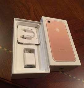 De venta Iphone 7 32GB color Rosa, accesorios originales, cargador, caja, adifonos
