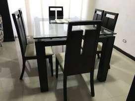 comedor 6 puestos bodega del mueble, mesa en cedro