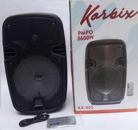 parlante bafle cabina de sonido portátil recargable reproductor de musica audio de 6.5 pulgadas