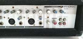 Último precio $120 Amplificador mix cabezal consola phonic 80w.