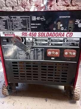Maquina de soldar Lincol 450 amp