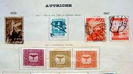 Sellos postales de Austria 1922 - 1947