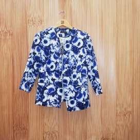 Chaqueta blazer Torino azul Material:100% Poliéster para mujer talla 8