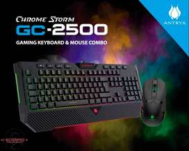 Kit Gaming Teclado Y Mouse Antryx Chrome Storm Gc-2500