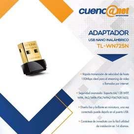 Tplink Tlwn725n 150mbps W. N Nano Usb Adapter, 2.4ghz,