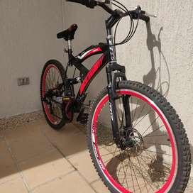 Bicicleta Todoterreno GW Caronte con freno de disco