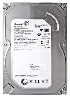 DISCO DURO DE 500GB Segate barracuda HDD
