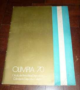 REVISTA PROGRAMA OFICIAL DE LOS PREMIOS OLIMPIA AL DEPORTE 1970 DE VICENZO GOLF GANA ORO