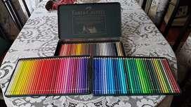 Lapices colores profesionales Faber Castell Albrecht Dürer por 120 unidades, caja de metal.
