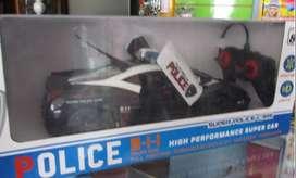 Carro policía de control remoto