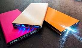 Cargador Portatil Power Bank doble USB Aluminio Slim 20000 mah