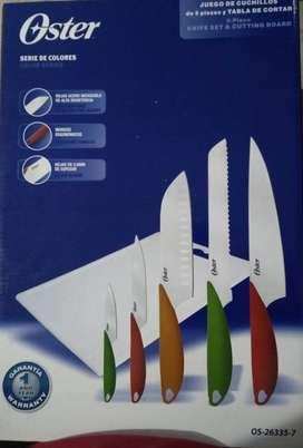 Juego de cuchillos Oster 5 piezas + tabla