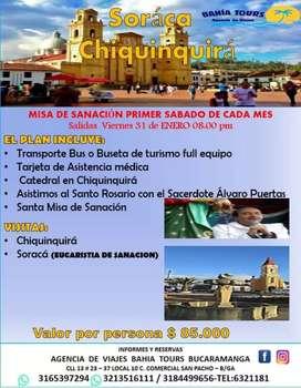 Tour misa de sanacion padre Álvaro puerta salida enero 31 soraca