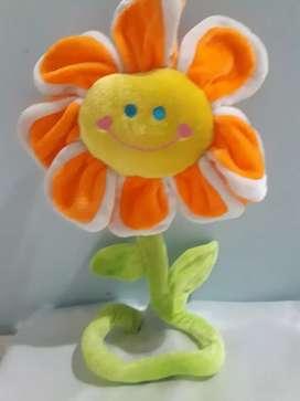 Flor animada de tela